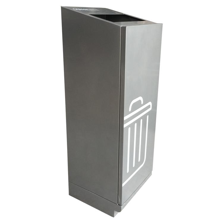 室内方形不锈钢垃圾桶图片009