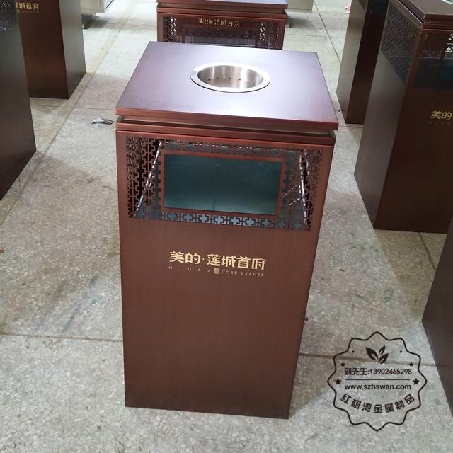 方形电梯口不锈钢垃圾桶图片11