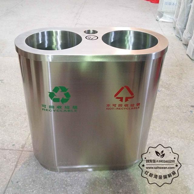 商场不锈钢垃圾桶001