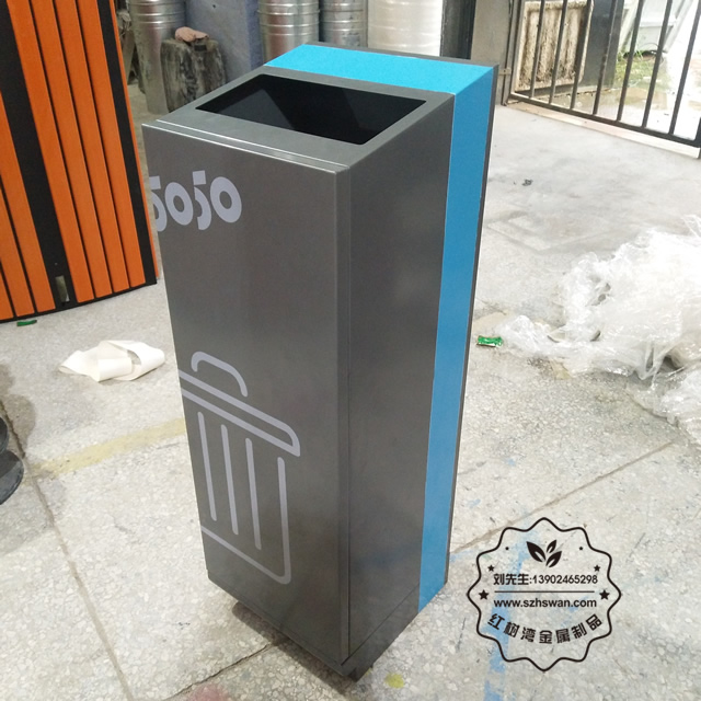 方形不锈钢垃圾桶图片003