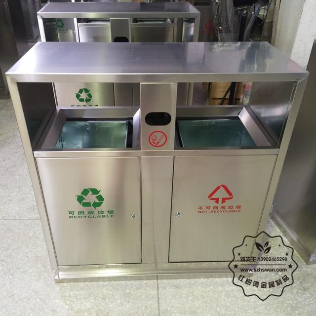 市政不锈钢垃圾桶图片005