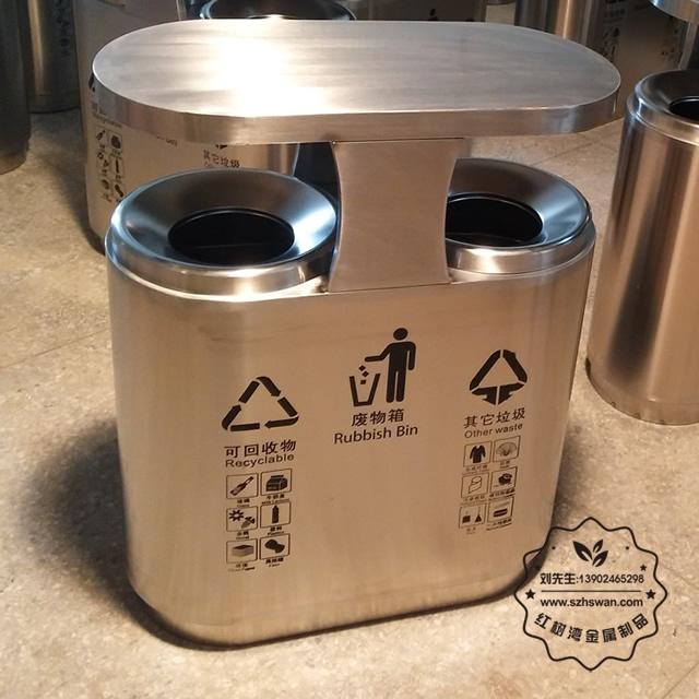 市政不锈钢垃圾桶图片002