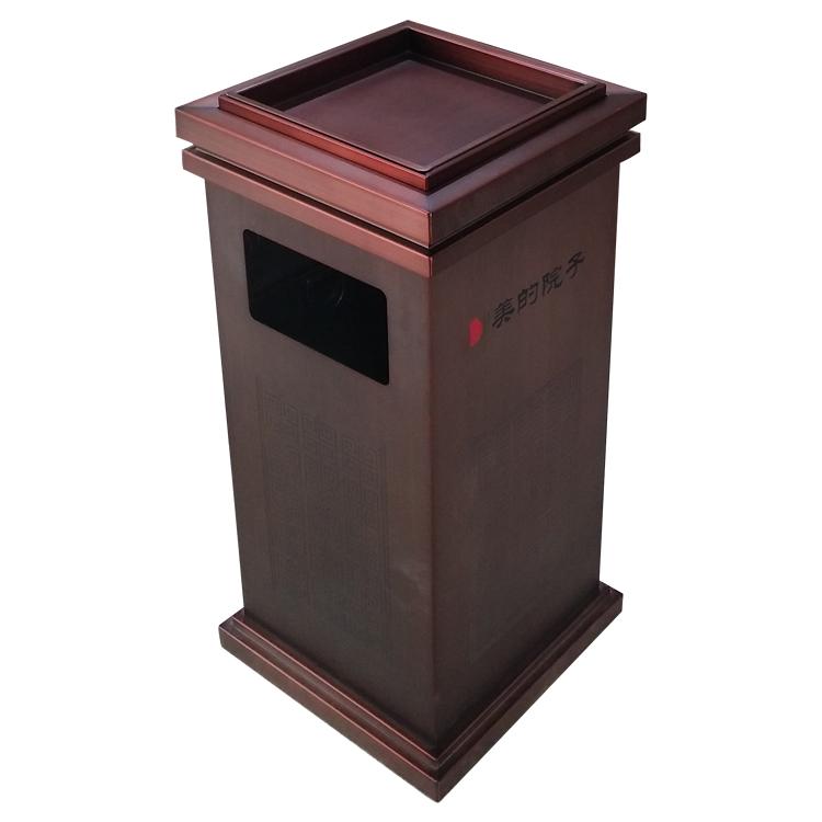 室内方形不锈钢垃圾桶图片006
