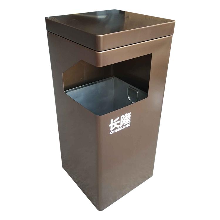 室内方形不锈钢垃圾桶图片001