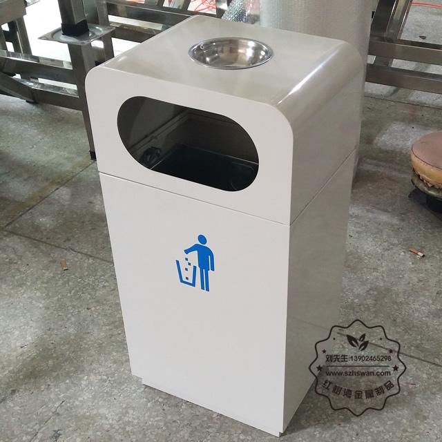 镀锌板垃圾桶图片001