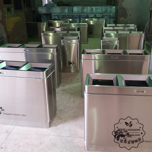304不锈钢垃圾回收箱
