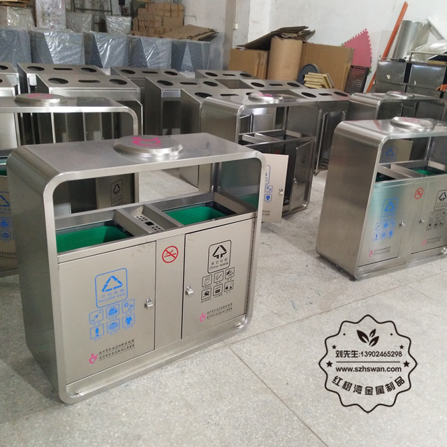 杭州医院分类不锈钢垃圾桶002