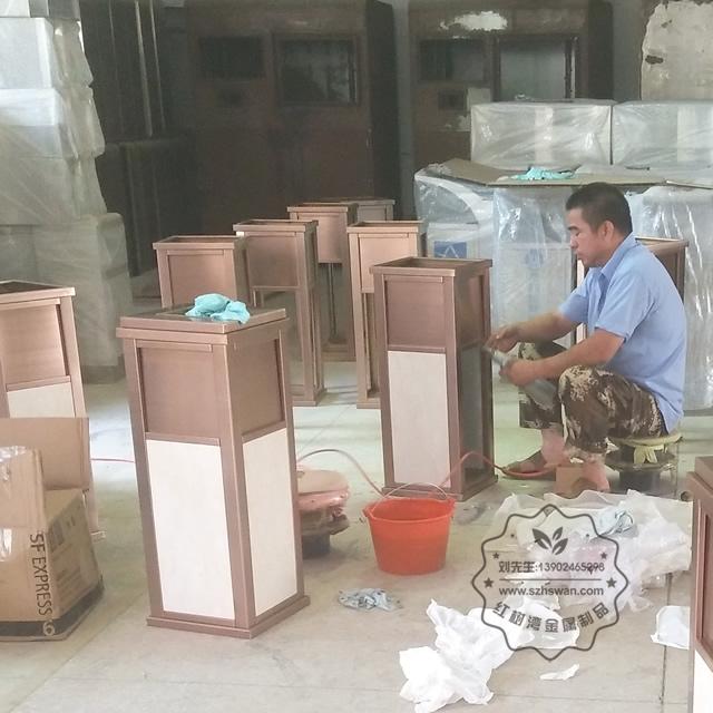 高档公寓室内方形不锈钢果皮箱图片001