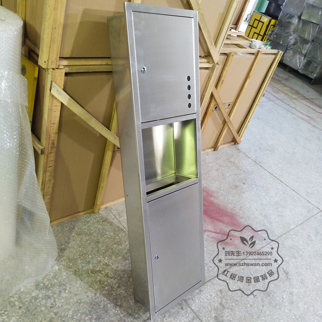 室内嵌入式不锈钢垃圾箱垃圾桶图片002