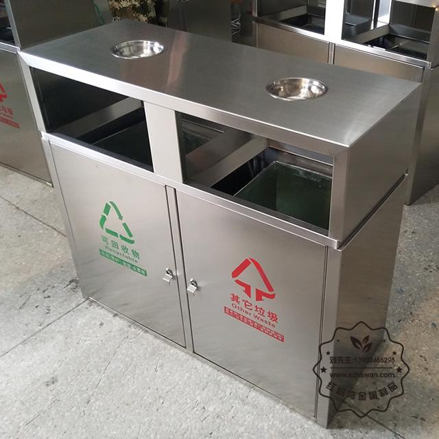 户外分类不锈钢垃圾箱图片007