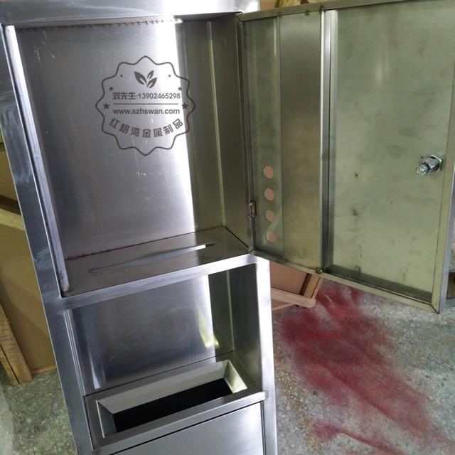 室内嵌入式不锈钢垃圾箱垃圾桶图片003