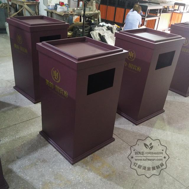 广东不锈钢垃圾桶图片007