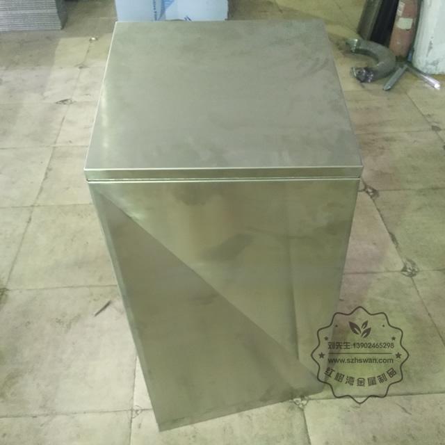户外方形不锈钢果皮箱垃圾桶图片001