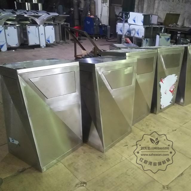 户外方形不锈钢果皮箱垃圾桶图片003