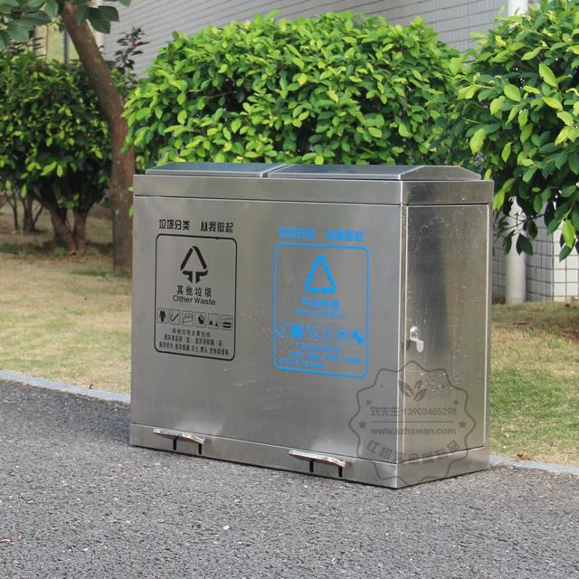 广东不锈钢垃圾桶图片006