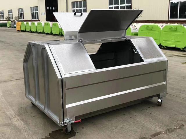 大型不锈钢垃圾回收箱