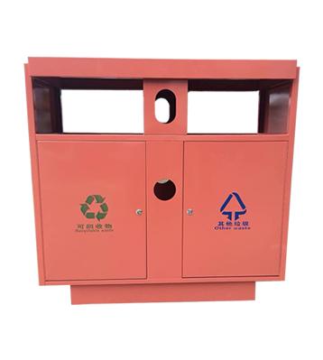 喷塑户外双分类不锈钢垃圾桶主图