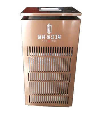 电镀玫瑰金镂空室内方形不锈钢垃圾桶主图