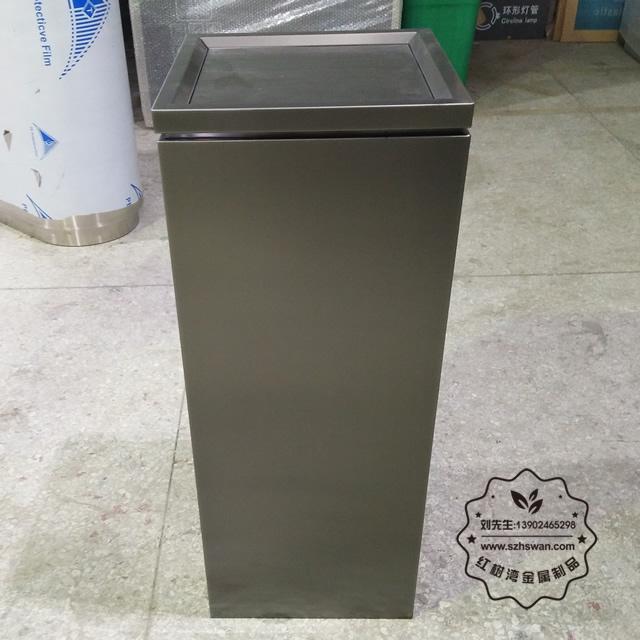 新款电镀室内方形不锈钢垃圾桶图片002
