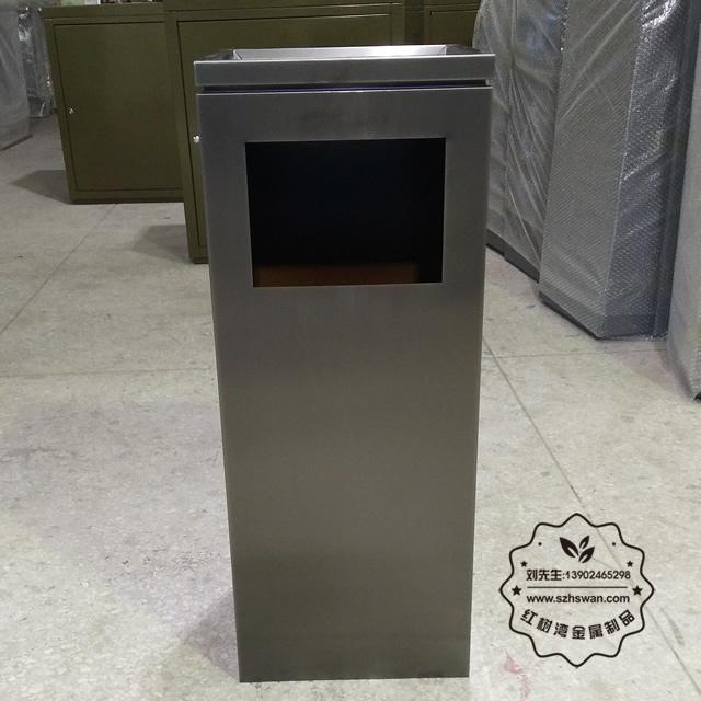 新款电镀室内方形不锈钢垃圾桶图片004