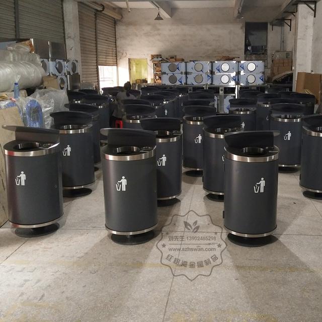 钢板垃圾桶003