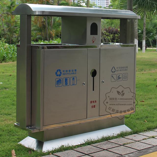 物业分类不锈钢垃圾桶图片001