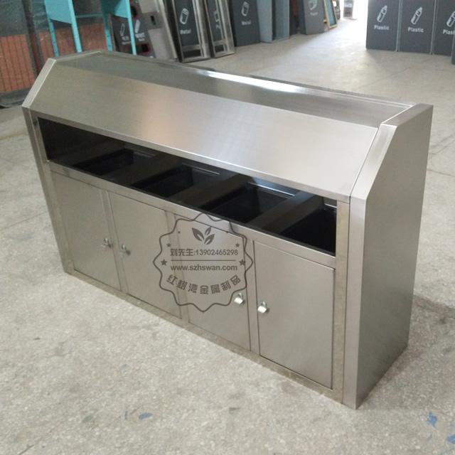 大号室外不锈钢四分类垃圾桶图片002