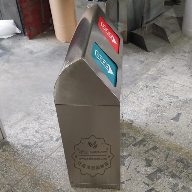 新款户外双筒不锈钢垃圾箱图片002