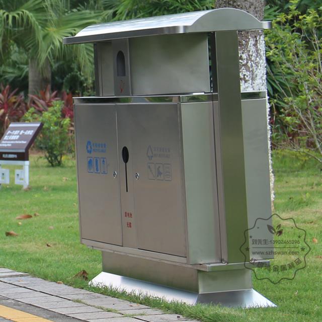园林不锈钢分类垃圾桶