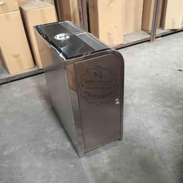 户外脚踏式不锈钢分类垃圾桶图片003