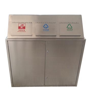 室内环保三分类不锈钢垃圾箱主图