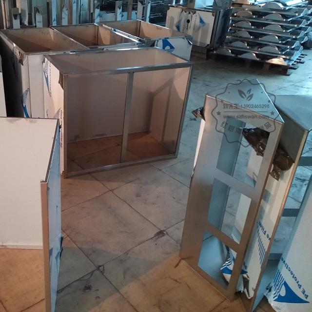 室内环保三分类不锈钢垃圾箱图片003