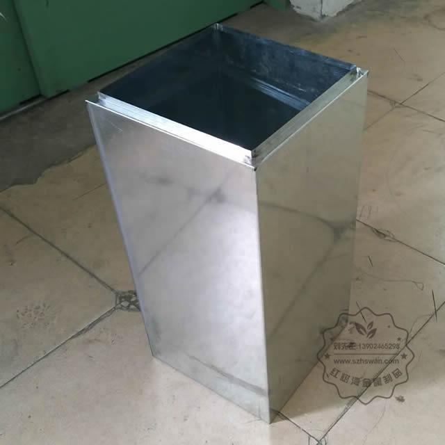 室内电镀仿大理石方形不锈钢垃圾桶图片003