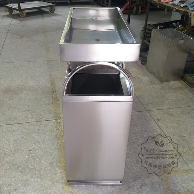 绿化养花容器花盆不锈钢分类垃圾桶图片003