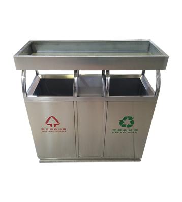 绿化养花容器花盆不锈钢分类垃圾桶主图
