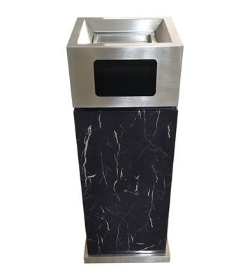 室内电镀仿大理石方形不锈钢垃圾桶主图