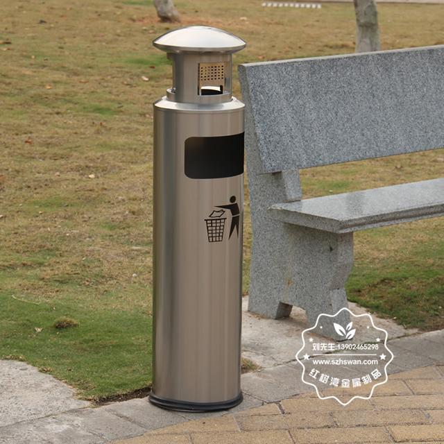 圆柱形不锈钢烟灰垃圾桶图片001