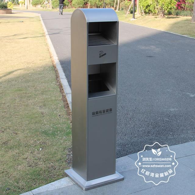 户外方形不锈钢灭烟柱垃圾桶图片003