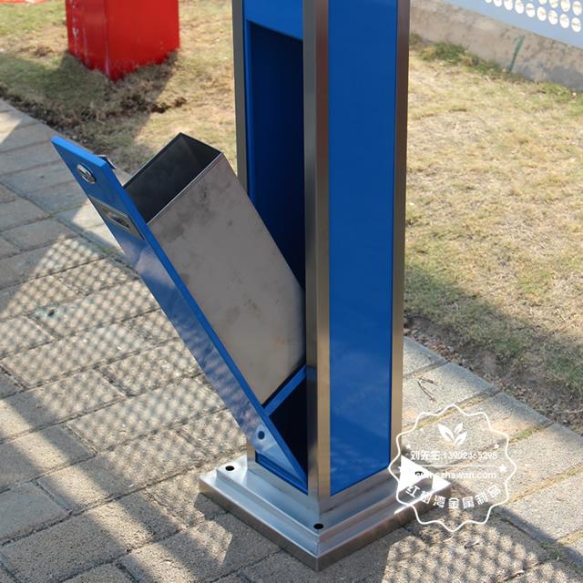 创意室外方形不锈钢烟灰柱图片003