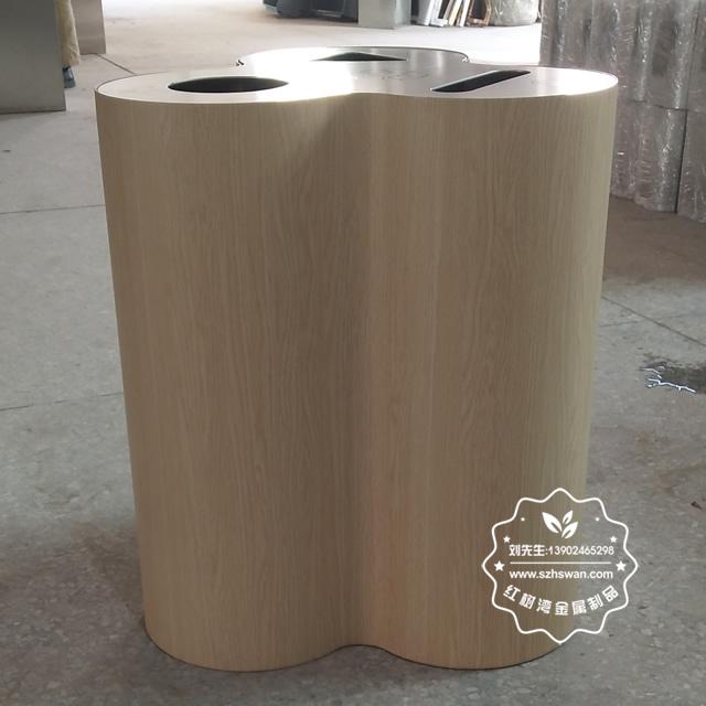 新款三分类不锈钢室内垃圾桶图片003