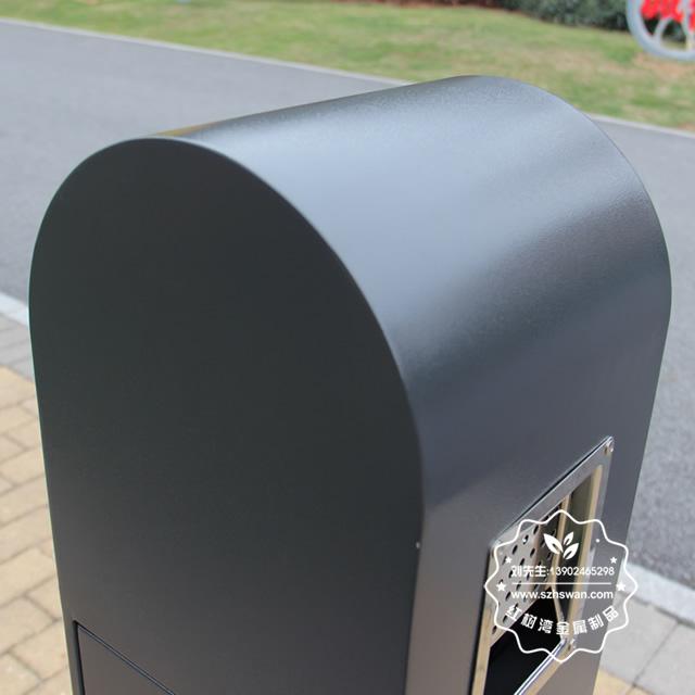 户外烤漆不锈钢吸烟柱果壳箱图片004
