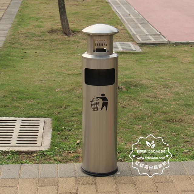 圆柱形不锈钢烟灰垃圾桶图片005