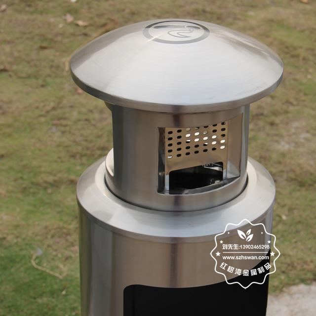圆柱形不锈钢烟灰垃圾桶图片006
