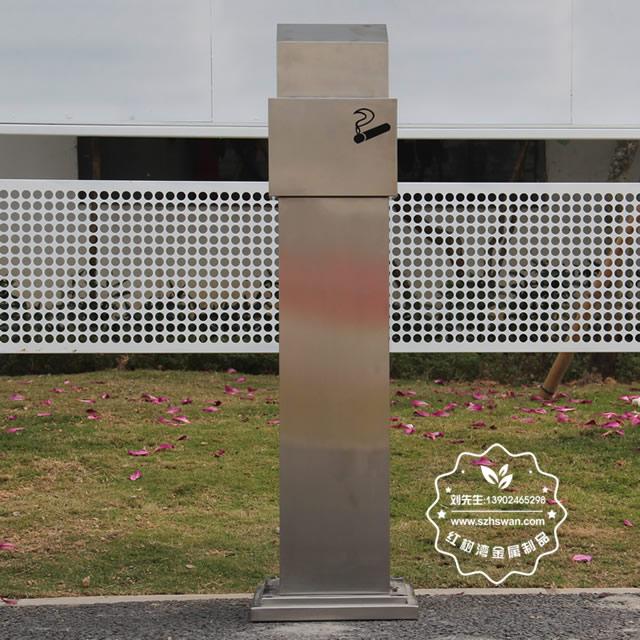 室外方形不锈钢烟蒂柱图片004