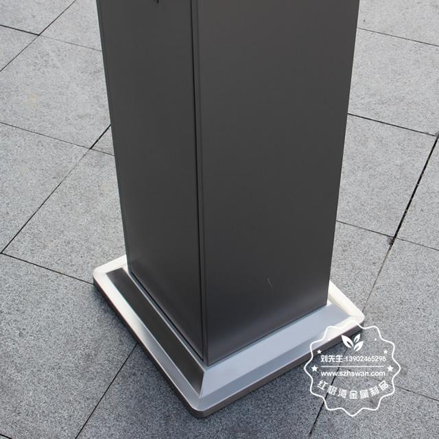 户外方形不锈钢灭烟柱垃圾桶图片007