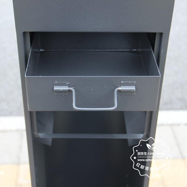 户外烤漆不锈钢吸烟柱果壳箱图片008