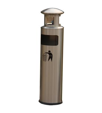 圆柱形不锈钢烟灰垃圾桶主图