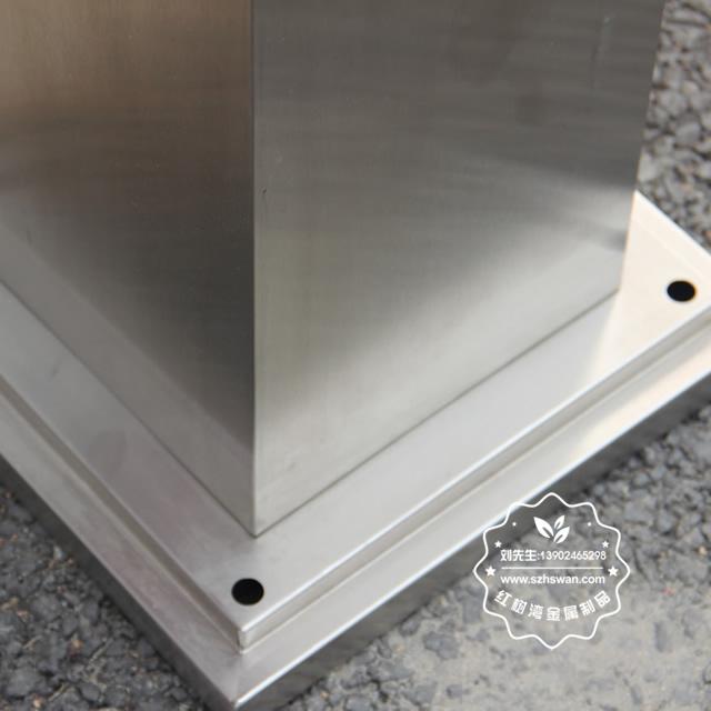室外方形不锈钢烟蒂柱图片006
