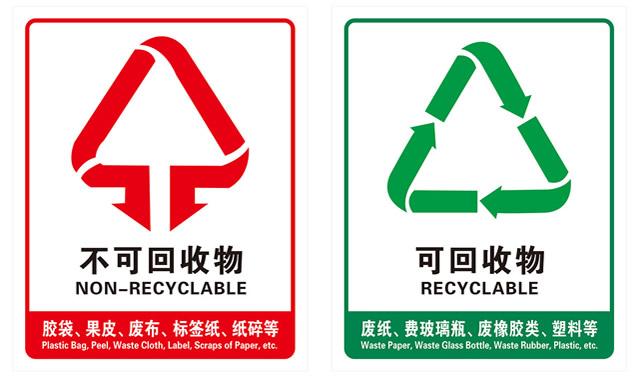分类垃圾桶标识图片