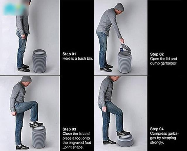创意可压缩垃圾桶